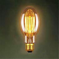 C75 rett silke Edison antikke retro dekorative lyspærer (40W E27)