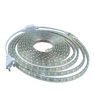 7メートル220Vのhigtの明るいは、EU電源プラグの光ストリップ柔軟5050 420smd 3結晶防水ライトバーのガーデンライトを導きました