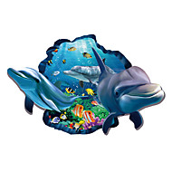 Landscape Stickers 3D Dolphin Stickers Sea Animals Wall Decals For Kids