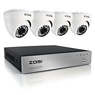 zosi®8ch 720p ahd dvr 4 stuks 1.0MP binnenlandse veiligheid camera systeem