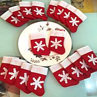 12枚/セットミニクリスマスストッキングクリスマス装飾用品装飾祭のパーティーの飾り