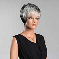 Uusi saapuminen älykäs lyhyet suorat capless peruukit korkealaatuisia hiuksista sekoitettu väri