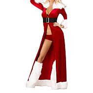 Ternos de Papai Noel Festa a Fantasia Feminino Natal Carnaval Ano Novo Festival/Celebração Trajes da Noite das Bruxas Patchwork