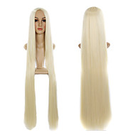 613# Blonde 100cm Long Length Fashion Straight Natural Party Wig for Custume Centre Parting Wig High Quality Cheap