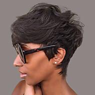 natuurlijk golvend kort menselijk haar pruiken voor zwarte vrouw