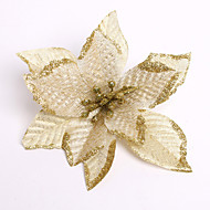 hyvää joulua! Uusi 13cm 6 väriä joulu kukkakoristelu kukkien joulu synnytystä koristeena enfeite de Natal
