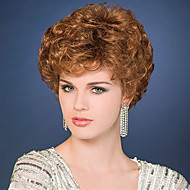 Top Quality Heat Resistant Short Curly Brown Color Wig