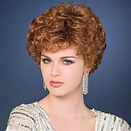 Femei Peruci Sintetice Creț Bej Perucă Naturală Halloween Wig Caruciorul Peruca costum Peruci