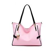 baratos Bolsas de Ombro-Mulheres Bolsas PU / Couro de Porco Bolsa de Ombro Sólido Rosa escuro / Cinza Claro / Lavanda