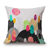 cheap Pillow Covers-1 pcs Polyester Pillow Cover, Geometric Graphic Prints Still Life Accent/Decorative Modern/Contemporary