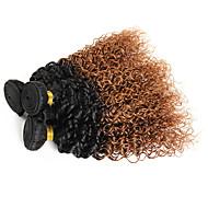 Ombre Brasilialainen Kihara 6 kuukautta 3 osainen hiukset kutoo