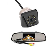 4.3 car tft lcd monitor omgekeerde auto achteruitrijcamera back-up camera kit
