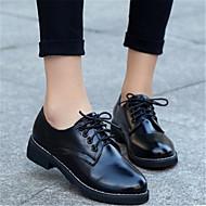 נשים נעלי אוקספורד PU קזו'אל שחור אדום שטוח