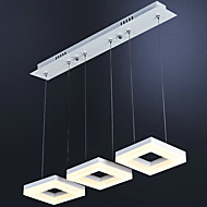 3 Heads 30W Modern Style Simplicity LED pendant lights Metal Living Room / Bedroom / Dining Room