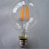 お買い得  LED電球-1個 500-550 lm E26/E27 フィラメントタイプLED電球 G125 6 LEDの COB 装飾用 温白色 イエロー AC 220-240V
