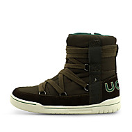 cheap Kids' High-Tops-Boys' Shoes Suede / PU Winter Comfort Boots Zipper / Lace-up for Brown