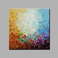 halpa -Maalattu Abstrakti Kukkakuvio/Kasvitiede Neliö,Moderni Classic 1 paneeli Kanvas Hang-Painted öljymaalaus For Kodinsisustus