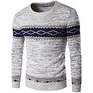 Muškarci Vikend Dugih rukava Pullover Color block Okrugli izrez