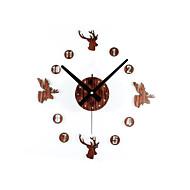 Moderne / Nutidig / Retro Rød Dyr / Ferie / Inspirerende / Familie / Cartoon Wall Clock,Rund / Nyhet Akryl / Glass 30cm(12in)Innendørs /