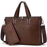 Men Bags Cowhide Tote for Casual Office & Career Black Brown Khaki