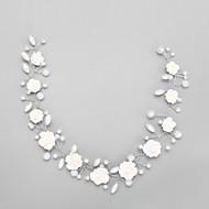 billiga Brudhuvudbonader-Kristall Oäkta pärla Legering pannband 1 Bröllop Speciellt Tillfälle Hårbonad