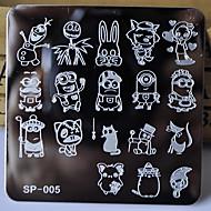 prego novo modelo de manicure carimbar placas personagens de desenhos animados projeta a cópia de imagem de transferência de disco