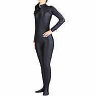 cheap Zentai Suits-Zentai Suits Cosplay Costume Ninja Zentai Cosplay Costumes White Black Solid Colored Leotard / Onesie Zentai Spandex Lycra Men's Women's