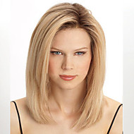 Synthetic Wig Women's Straight Blonde Synthetic Hair Heat Resistant Blonde Wig Capless Blonde / Yes