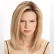 Sintetičke perike Ravan kroj Otporan na toplinu Gustoća Capless Žene Plavuša Prirodna perika Sintentička kosa