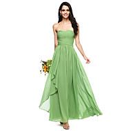 Γραμμή Α Καρδιά Μακρύ Σιφόν Φόρεμα Παρανύμφων με Χιαστί / Πιασίματα με LAN TING BRIDE® / Ανοικτή Πλάτη