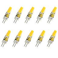 billige Bi-pin lamper med LED-10pcs 1.5W 200-250lm G4 LED-kornpærer T COB LED perler COB Dekorativ Varm hvit / Kjølig hvit 12V