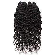 billige -Menneskehår Vevet Brasiliansk hår Vann Bølge 6 måneder hår vever