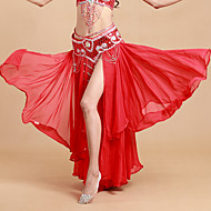 Trbušni ples Suknjice Žene Seksi blagdanski kostimi Poliester Spandex Drapirano padajuće Prirodno Suknja