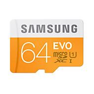お買い得  メモリカード-SAMSUNG 64GB マイクロSDカードTFカード メモリカード UHS-I U1 クラス10 EVO