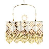 baratos Clutches & Bolsas de Noite-Mulheres Bolsas Courino Bolsa de Festa Cristal / Strass Prata / Dourado / Ouro Rose