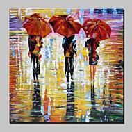 billiga Abstrakta målningar-Hang målad oljemålning HANDMÅLAD - Abstrakt Människor Moderna Inkludera innerram