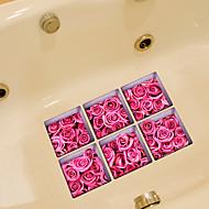 Bloemen Wall Stickers Vliegtuig Muurstickers Toiletstickers,Vinyl Materiaal Huisdecoratie Muursticker