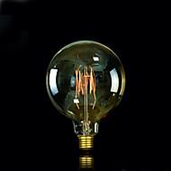 baratos Incandescente-1pç 25W E27 E26/E27 E26 G125 Branco Quente 2300 K Incandescente Vintage Edison Light Bulb 220V 85-265V