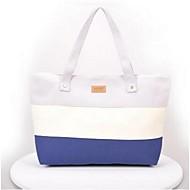 baratos Bolsas Tote-Mulher Bolsas Lona Tote para Casual Branco Roxo Pêssego Azul Claro