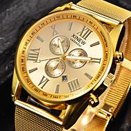 Pánské Náramkové hodinky Módní hodinky Křemenný Kalendář Nerez Kapela Cool Černá