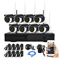 yanse® plug and play 8ch langaton NVR kit p2p 960p HD ir hämäränäön turvallisuus IP-kamera WiFi CCTV-järjestelmä