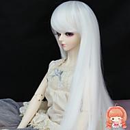 Naisten Synteettiset peruukit Suora Valkoinen Halloween Peruukki Carnival Peruukki Doll Wig puku Peruukit