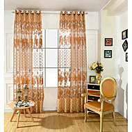 Un Panou Tratamentul fereastră Neoclasic European , Floare Sufragerie PVC Material Sheer Perdele Shades Pagina de decorare For Fereastră