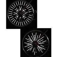 billige Sykkellykter og reflekser-Refleksbånd Sykling Kuttbar Vanntett Liten størrelse Passer for kjøretøy Annen Oother Lumens Hvit Sykling