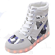 cheap Women's Sneakers-Unisex Shoes Suede Spring Fall Comfort Crib Shoes Ankle Strap Light Up Shoes Sneakers Basketball Shoes Fitness & Cross Training Shoes
