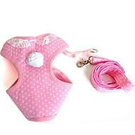 猫用品 / 犬用品 ハーネス / リード 安全用具 / ソフト / ベスト / カジュアルスーツ 純色 ピンク クロス