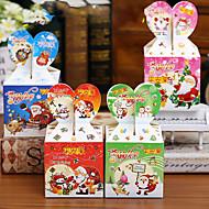 cor aleatória estilosantes 10 Unids diy de dibujos animados de navidad Ao nuevo caja de regalo caramelo lindo cajas de torta la vspera de
