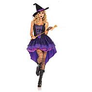 Heks Cosplay Kostumer Sexede Uniformer Lilla Terylene Cosplay Tilbehør Halloween / Karneval Halloween Kostumer