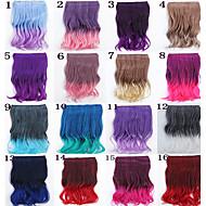 인기있는 새로운 이중 색상 곱슬 코스프레 합성 머리 확장자