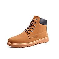 billige Sko i Store Størrelser-Herre sko Semsket lær Vinter Kampstøvler Støvler Gange til Avslappet utendørs Mørkeblå Mørkebrun Kakifarget